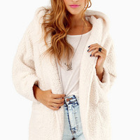 Shearling Luck Hooded Jacket $67