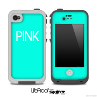 Trendy Green with Pink Skin for the iPhone 5 or 4/4s LifeProof Case - iPhone