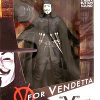 V for Vendetta 12 Action Figure w/sound