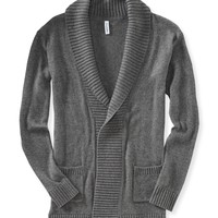 Solid Shawl Cardigan -
