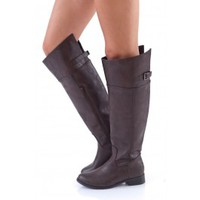 Wild Horses Riding Boots-Chocolate Brown