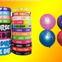 20pcs I Love ONE Direction Bracelet Silicone Wristband so in Love Heart 1d 20pcs:Amazon:Sports & Outdoors