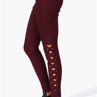 Picket Leggings in Burgundy