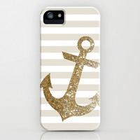 GLITTER ANCHOR IN GOLD iPhone & iPod Case Promoters