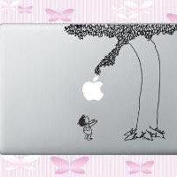 Black Giving Tree Decal for MacBook 13 15 17 by WallArtForLess