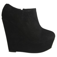Platform Faux Suede Bootie | Shop Shoes at Wet Seal