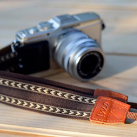 Coffee Heart camera strap