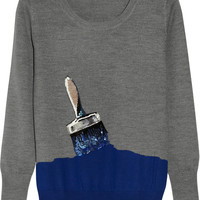 Markus Lupfer | Paintbrush sequined merino wool sweater | NET-A-PORTER.COM