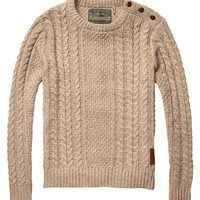 Cable Knitted Crew Neck Pull - Scotch & Soda