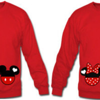 Mickey & Minnie Mouse Couples Long Sleeve T-Shirt