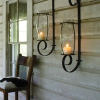 huge curling iron wall sconce