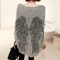 Angel Wing Loose Long Sweater Knitwear