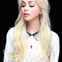 LONG AND SOFT FEMININE CURL HALF WIG