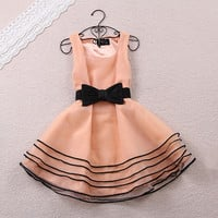 Organza sleeveless dress A 081706-6765