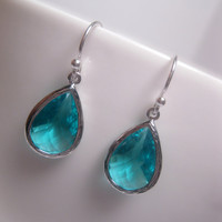 925 Sterling Silver Ocean Life Fantasy Turquoise Drop Earrings