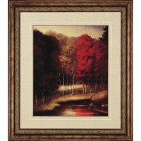Paragon Vermilion Meadow by River Framed Print - Striffolino - 7554 - Decor