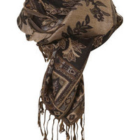 Black Paisley Jacquard Scarf - Scarves  - Accessories  - Topshop USA