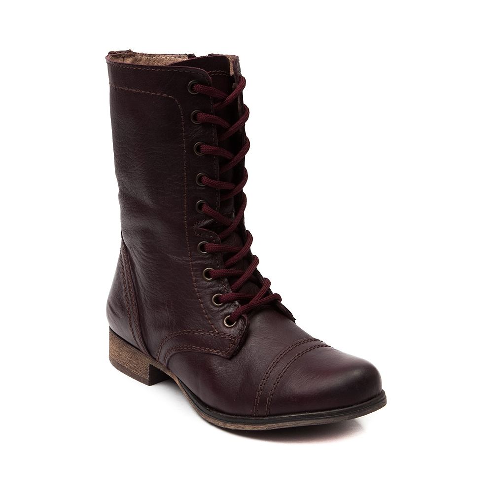 womens steve madden troopa boot wine from journeys