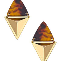 A.V. Max Gold and Tortoise Double Triangle Earrings - Max & Chloe
