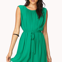 Elegant Shift Dress w/ Sash