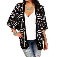 BlackWhite Chevron Cardigan