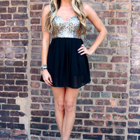 There's No Place Like Homecoming Dress - Gold