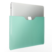 13 MacBook Air Turquoise Blue and Pink PU Leather Soft Sleeve Bag Case Cover