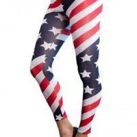 Amour Patriotic Sexy Colorful Prints Fashion Leggings Tights Pants Jegging:Amazon:Clothing