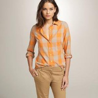 Women's new arrivals - shirts & tops - Maxi-check perfect shirt - J.Crew