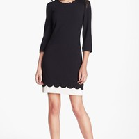 Ted Baker London Scalloped Stretch Shift Dress | Nordstrom
