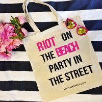 Beach Riot Canvas Tote - Beach Riot