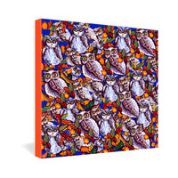 DENY Designs Home Accessories | Renie Britenbucher Owls Multi Gallery Wrapped Canvas