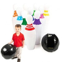 Giant Inflatable Kids Bowling Set Ball & Pins Party Indoor Outdoor:Amazon:Toys & Games