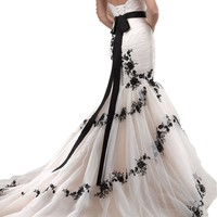 Beautiful Tulle and lace Sleeveless Floor Length Mermaid Wedding Dress