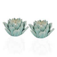 Fleur Tealight - Aquamarine | Under-10 | Gifts | Z Gallerie