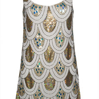 Penelope Sequin Shift Dress