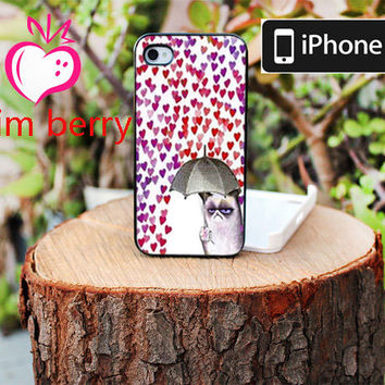 iPhone Case, iPhone 4 Case, iPhone 4s Case, iPhone 5 Case - Grumpy Cat Color Full Cover - Hard Plastic