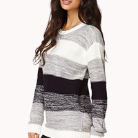 Chunky Striped Knit Sweater