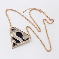 TRENDY SUPERMAN LOGO NECKLACE