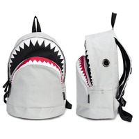 Big Shark Backpack-White