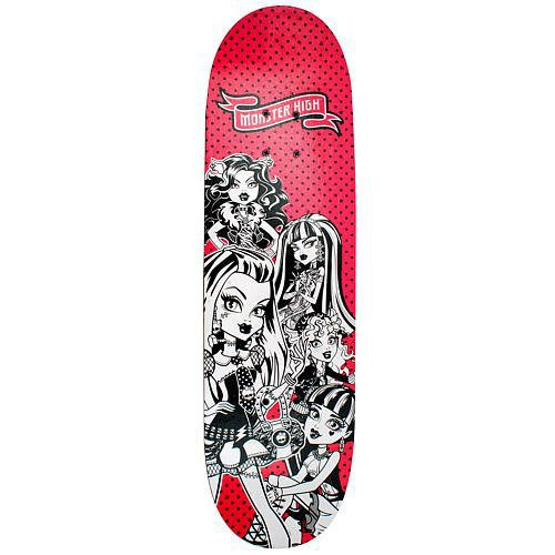 GIRLS Monster High 28 inch Skateboard - PORTRAITS Ride in style on the new Monster High 28 inch Skateboard from Bravo - GRAPHIC COLOR AND DESIGNS MAY VARY SLIGHTLY SENT AT RANDOM