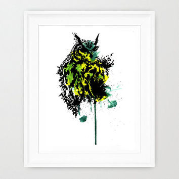 abstract owl watercolor from prettyinwatercolor on Etsy ...