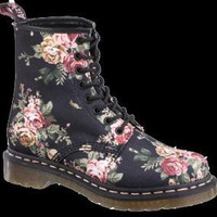 Dr. Martens Print 1460 8-Eye Boot BLACK VICTORIAN FLOWERS
