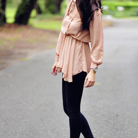 Queen B Blouse: Sand/Nude   Hope's