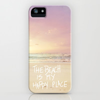 the beach is my happy place iPhone & iPod Case by Sylvia Cook Photography