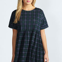 Kate Tartan Oversized Smock Dress