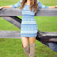 Singing The Blues Dress: Blue/White | Hope's