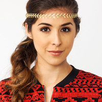Leaf-It-All-Headband GOLD SILVER - GoJane.com