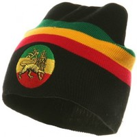 Rasta Beanie-Black Lion W28S16C:Amazon:Clothing
