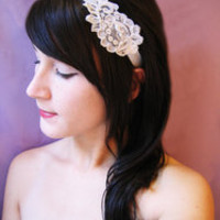 Lace Ribbon Headband in Black or White - pishposhes